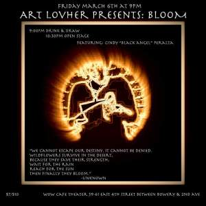 March 6th at 9pm Art LovHer Presents: Bloom